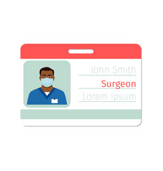 Surgeon medical specialist badge template vector