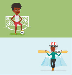 two sport banners with space for text vector image
