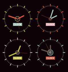 Clock on Black Background vector image