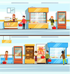 concept of shopping peoples vector image