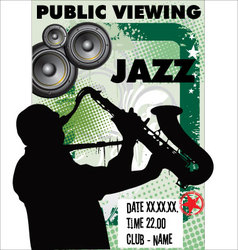 Jazz background - Public viewing vector image vector image