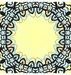 Ottoman design frame for text banner vector image