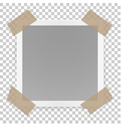 photo frame concept isolated on transparent vector image vector image