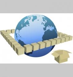 shipping box cartons vector image