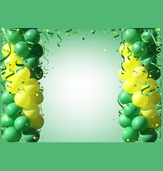 Background with party balloons and confetti vector
