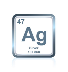 chemical element silver from the periodic table vector image