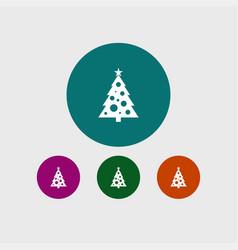 christmas tree icon simple vector image