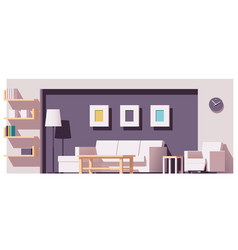 living room vector image vector image