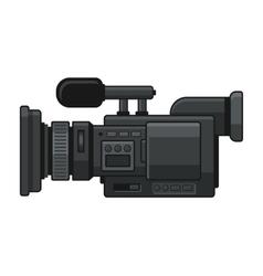 Professional Digital Video Camera Recorder Icon vector image vector image