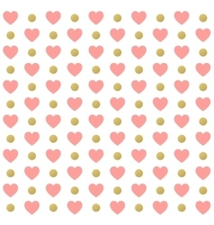 Seamless Valentines day polka dot red pattern with vector image