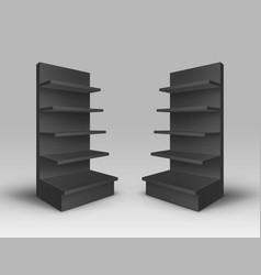 Set of exhibition racks on background vector