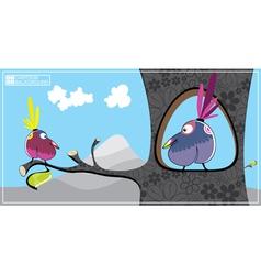 two birds vector image