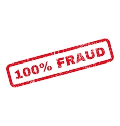 100 Percent Fraud Text Rubber Stamp vector image vector image