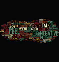eliminate negative thoughts and lose weight text vector image vector image