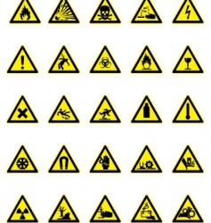 hazard icon set vector image vector image