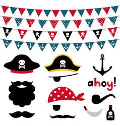 Pirate design element vector image