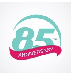 Template Logo 85 Anniversary vector image vector image