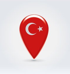 Turkey icon point for map vector image vector image
