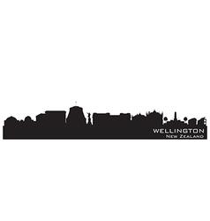 Wellington new zealand skyline detailed silhouette vector