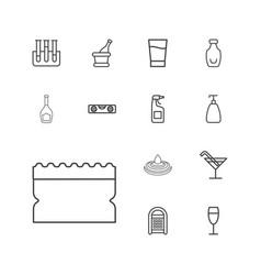 13 liquid icons vector