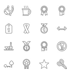 16 badge icons vector image