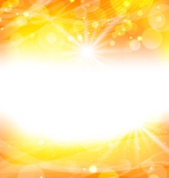 abstract orange background with sun light rays vector image