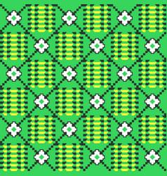 African kente cloth ethnic fabric seamless vector