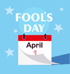 april fools day calendar first day vector image