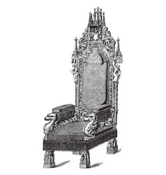 Arm chair vintage vector