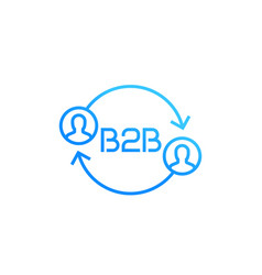 B2b logo icon on white vector