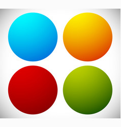 badge shapes in 4 bright colors vector image