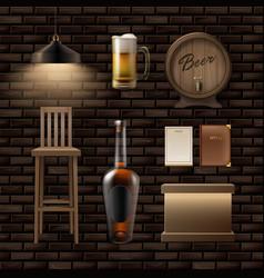 bar pub stuff vector image