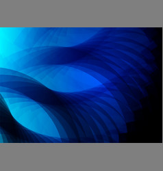 blue abstract background of curved lines shapes vector image