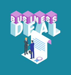 business deal concept vector image