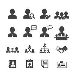 Business persons and users icon vector