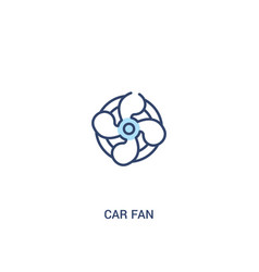 Car fan concept 2 colored icon simple line vector