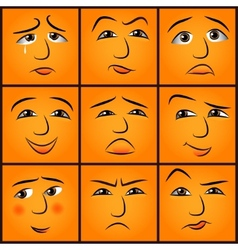 cartoon emotions set vector image