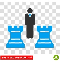 Chess Strategy Eps Icon vector image