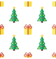 Christmas background in flat style vector image