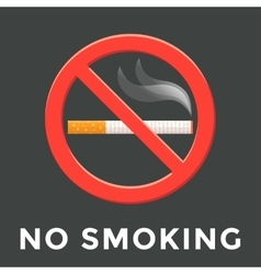 Color no smoking label vector
