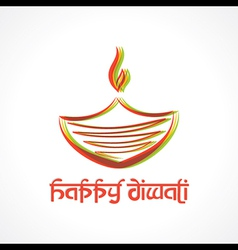 Colorful diya for Diwali vector image