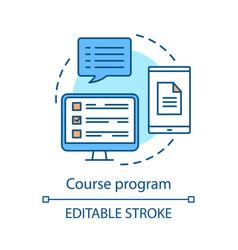 Course program concept icon vector