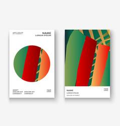 creative christmas cover golden frame design vector image