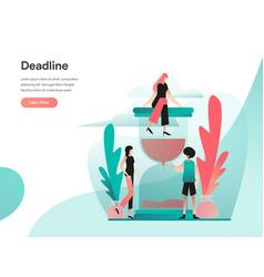 deadline concept modern flat design concept of vector image