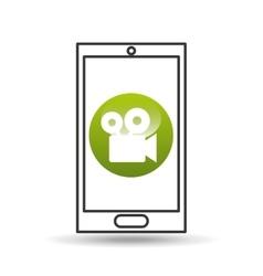 Device mobile icon movie social media graphic vector