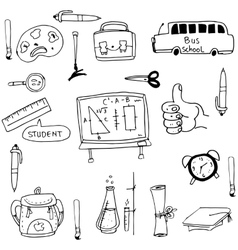 Doodle of element hand draw school vector image