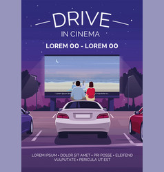 drive in cinema poster template vector image