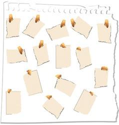 Empty papers vector