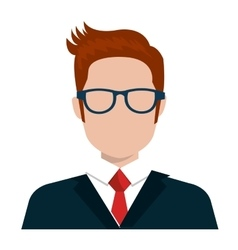 Executive businessman profile isolated icon vector