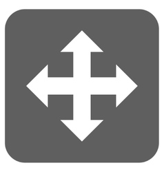 Expand Flat Squared Icon vector